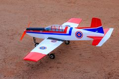 Toy jet airplane flaying , Made with foam.  stock photo
