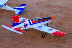 Toy jet airplane flaying , Made with foam.  royalty free stock images