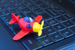 Toy on keyboard Royalty Free Stock Photos