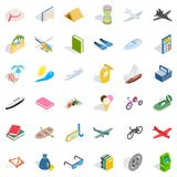 Toy for kid icons set, isometric style Stock Photos