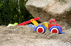 Toy on the kids sand Royalty Free Stock Photos