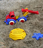 Toy on the kids sand Stock Image