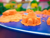 Toy kinatic sand beach plastic bucket play.  stock photos