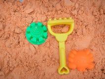 Toy kinatic sand beach plastic bucket play.  stock image