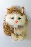 Toy kitten. Fluffy kitten soft toy figurine stock image