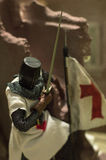 Toy 1 6 scale knight templar Royalty Free Stock Photography