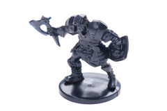 Toy knight on white Stock Images