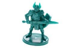 Toy knight on white macro Royalty Free Stock Photo