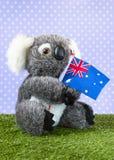 Toy koala with Australian flag Stock Photography
