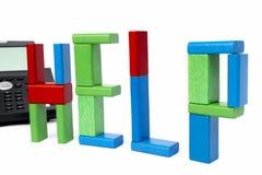 Toy kvarter som sceaming HJÄLP Fotografering för Bildbyråer