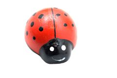 Toy ladybird on white. Background Stock Photography