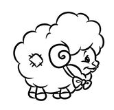 Toy lamb coloring page Stock Images