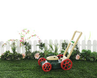 Toy Lawnmower Waiting Royalty Free Stock Photo