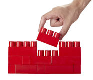 Toy lego block construction education childhood Stock Photos