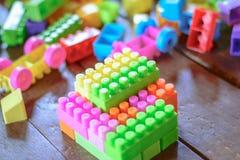 Toy Lego bunt Stockfotografie