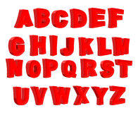 Toy letter. Red alphabet. Cartoon children ABC. Vector illustrat Stock Images