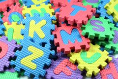Toy letters Stock Images