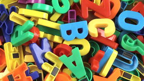Toy Letters. Colorful Toy letters on turntable