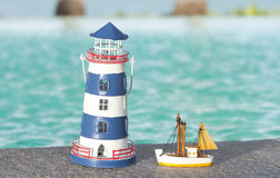 Toy lighthouse Royalty Free Stock Photo