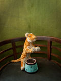 Toy lion in the arena Royalty Free Stock Images