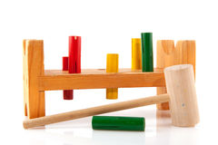 Toy for the little carpenter Stock Image