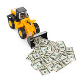 Toy loader and money Stock Images