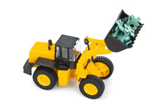 Toy loader and puzzle Stock Photos