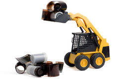 Toy loader rares in film. Royalty Free Stock Image