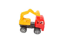 Toy Loaders. Isolate on white Stock Image