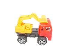 Toy Loaders. Isolate on white Royalty Free Stock Photos