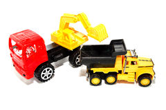 Toy Loaders. Isolate on white Royalty Free Stock Photo