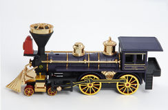Toy Locomotive. Plastic model of a SS 7501 locomotive royalty free stock images