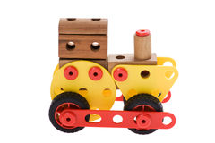 Toy locomotive on white Royalty Free Stock Image