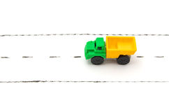 Toy lorry on road Royalty Free Stock Photos