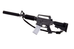 Toy m-16 machine gun Stock Image