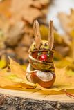 Toy made from chestnuts and natural materials Royalty Free Stock Photo