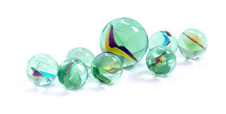 Toy marbles. On white background Royalty Free Stock Photography