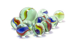 Toy marbles. On white background Stock Image