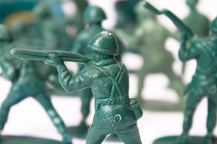 Toy marching troop Stock Image