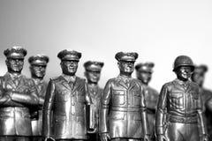 Toy memorial. Plastic toy heros stock photography