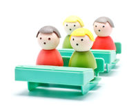 Toy Men Education Royalty Free Stock Image