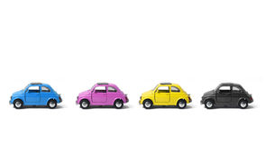 Toy Metal CMYK Cars stock photography