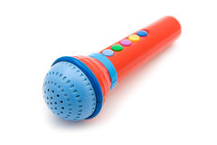 Toy microphone close up Stock Photography