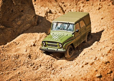 Toy military car Stock Photo