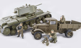 Toy military combat Royalty Free Stock Images