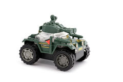 Toy military jeep Stock Photos