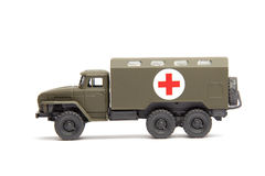 Toy military medical truck Royalty Free Stock Photos