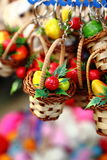 Toy Mini Flower basket stock photography