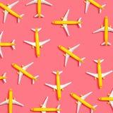 Toy miniature airplanes stock illustration