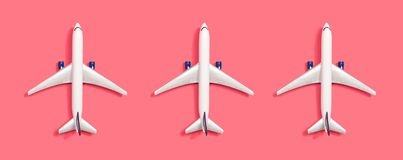 Toy miniature airplanes vector illustration